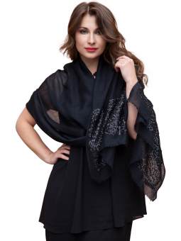Sequined Stole Jette Black