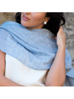 Woven scarf Nikolina Light Blue