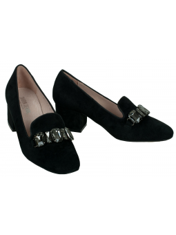 Embellished leather pumps Mariola in black