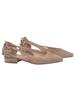 Suede Ballet Flats Romy Taupe
