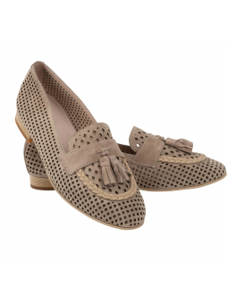Suede Loafer Chelesa Taupe
