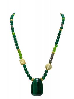 "Necklace ""Nea"" Malachite"