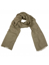 Anais Olive Embroidered Bee Scarf