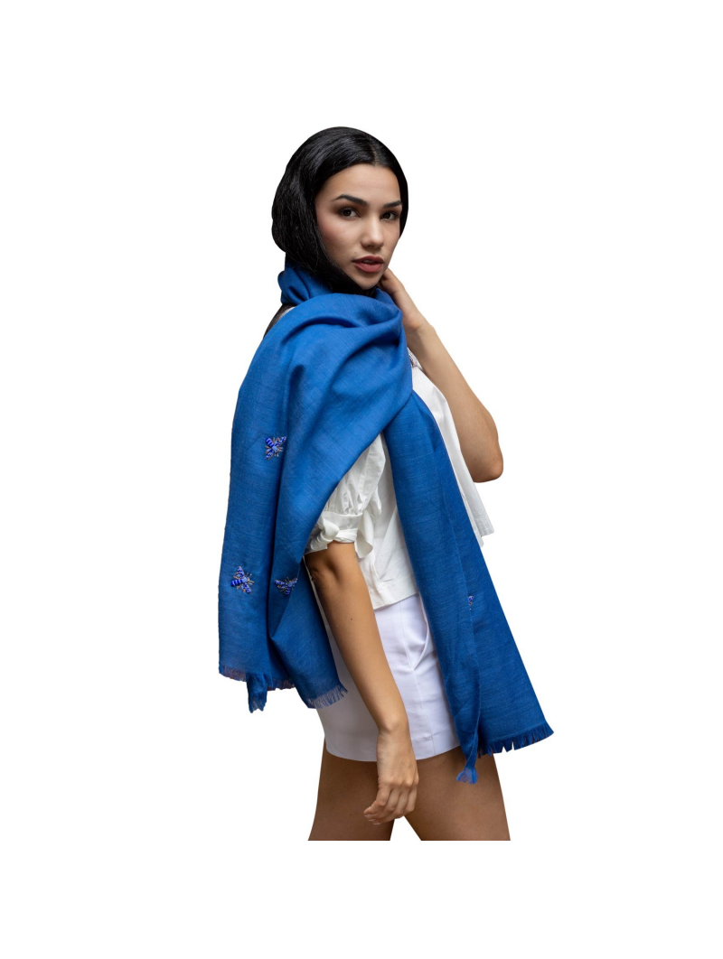Anais Rose Embroidered Bee Scarf