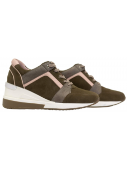 Leather Wedge Sneakers Tuana