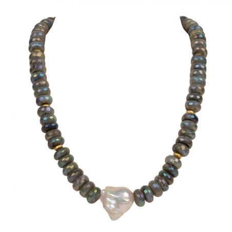 "Necklace ""Londyn"" Labarodorite"