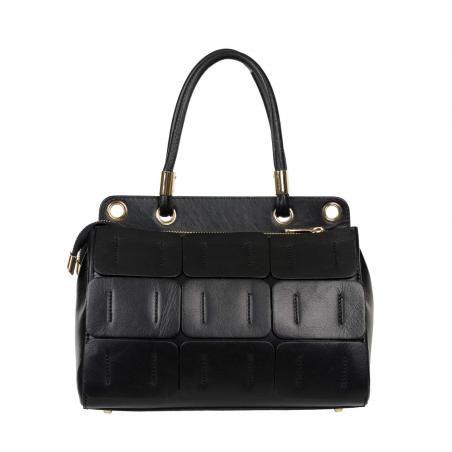 Leather Tote Giselle Black