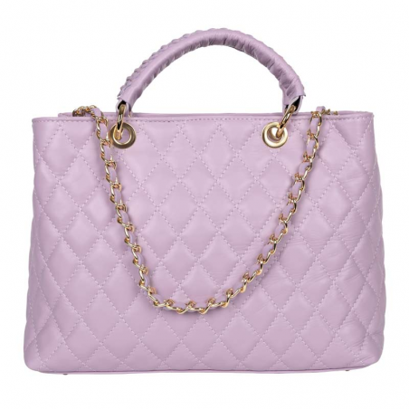 Quilted Tote Bag Louise Lavender